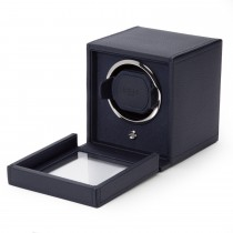 Wolf Designs Cub Single Watch Winder w Cover in Navy