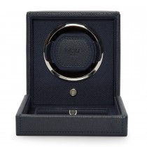 WOLF Cub Single Watch Winder w Cover in Navy