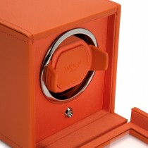 WOLF Cub Single Watch Winder w Cover in Orange