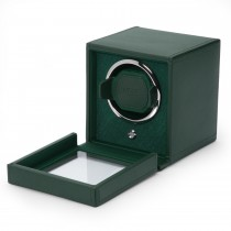 Wolf Designs Cub Single Watch Winder w Cover in Green