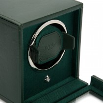 WOLF Cub Single Watch Winder w Cover in Green