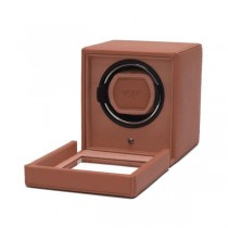 Wolf Designs Cub Single Watch Winder w Cover in Coral