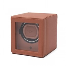 WOLF Cub Single Watch Winder w Cover in Coral