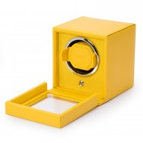 Wolf Designs Cub Single Watch Winder w Cover in Yellow