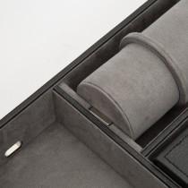 WOLF Howard Valet Tray w/ Roll & Travel Cufflink Case