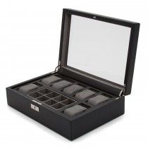WOLF Howard Watch Box w/ Cufflink Tray