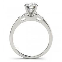Tapered Baguette 3-Stone Diamond Bridal Set Palladium (0.30ct)