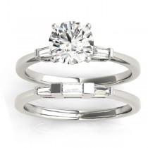 Tapered Baguette 3-Stone Diamond Bridal Set Platinum (0.30ct)