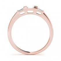 Tapered Baguette 3-Stone Diamond Wedding Band 14k Rose Gold (0.20ct)