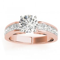 Diamond Princess cut Engagement Ring 18k Rose Gold (1.00ct)