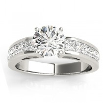 Diamond Accented Engagement Ring Setting Platinum 1.00ct