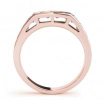 Diamond Princess-cut Channel Wedding Band 14k Rose Gold 1.20ct