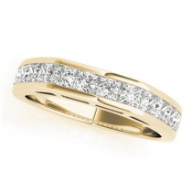 Diamond Princess-cut Channel Wedding Band 18k Yellow Gold 1.20ct