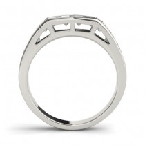 Diamond Accented Wedding Band Setting Platinum 1.20ct