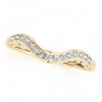 Curved Diamond Wedding Band 14k Yellow Gold (0.10ct)