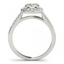 Halo Round Diamond Engagement Ring 18k White Gold (1.38ct)