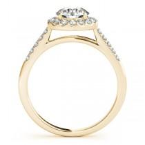 Halo Round Diamond Engagement Ring 18k Yellow Gold (1.38ct)