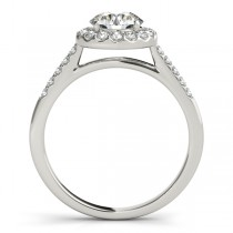 Halo Round Diamond Engagement Ring Palladium (1.38ct)