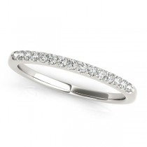Diamond Wedding Ring Band 18k White Gold (0.23ct)