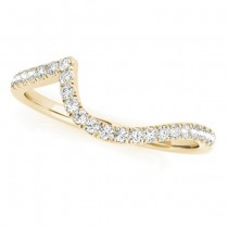 Diamond Contoured Wedding Band 18k Yellow Gold 0.17ct
