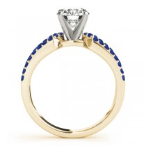 Diamond & Sapphire Engagement Ring Setting 14k Yellow Gold (0.22 ct)