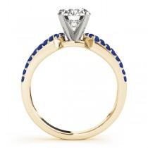 Diamond & Sapphire Engagement Ring Setting 18k Yellow Gold (0.22 ct)