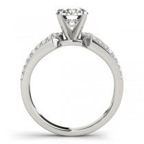 Diamond Sidestone Accented Multirow Engagement Ring Platinum (0.22 ct)