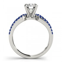 Diamond & Sapphire Bridal Set Setting Platinum (0.38 ct)