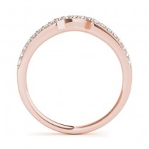 Diamond Contoured Wedding Band 18k Rose Gold (0.16 ct)