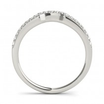 Diamond Contoured Wedding Band Palladium (0.16 ct)