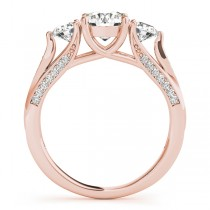 Three Stone Round Bridal Set 14k Rose Gold (1.92ct)