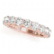 Luxury Diamond Eternity Wedding Ring Band 14k Rose Gold 2.61ct