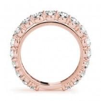 Luxury Diamond Eternity Wedding Ring Band 14k Rose Gold 2.61ct