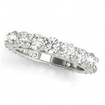 Luxury Diamond Eternity Wedding Ring Band 14k White Gold 2.61ct