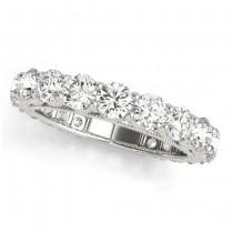 Luxury Diamond Eternity Wedding Ring Band 14k White Gold 2.61ct