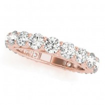 Luxury Diamond Eternity Wedding Ring Band 18k Rose Gold 2.61ct