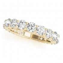 Luxury Diamond Eternity Wedding Ring Band 18k Yellow Gold 2.61ct