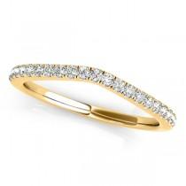 Diamond Frame Split Shank Ring & Band Bridal Set 14k Y. Gold 1.50ct