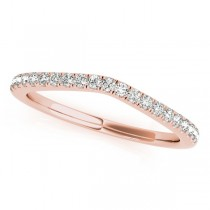 Diamond Contour Wedding Ring, Prong Set in 14k Rose Gold 0.21ct