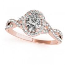 Twisted Oval Moissanite Bridal Sets 14k Rose Gold (0.57ct)