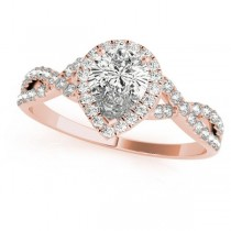 Twisted Pear Moissanite Bridal Sets 14k Rose Gold (1.57ct)