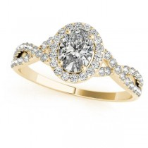 Twisted Oval Moissanite Bridal Sets 14k Yellow Gold (2.07ct)
