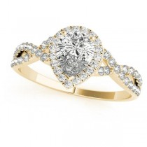 Twisted Pear Moissanite Bridal Sets 14k Yellow Gold (0.57ct)