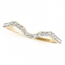 Twisted Cushion Moissanite Bridal Sets 18k Yellow Gold (1.07ct)