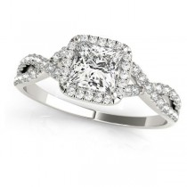 Twisted Princess Moissanite Bridal Sets Platinum (0.57ct)