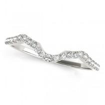 Twisted Infinity Engagement Ring Bridal Set Platinum 0.27ct