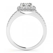 Cushion Cut Diamond Halo Engagement Ring Platinum (2.00ct)