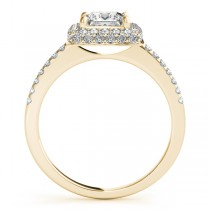 Princess Cut Diamond Halo Bridal Set 14k Yellow Gold (2.20ct)