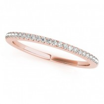 Diamond Accented Pave Wedding Band 18k Rose Gold (0.20ct)