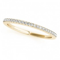 Diamond Accented Pave Wedding Band 18k Yellow Gold (0.20ct)